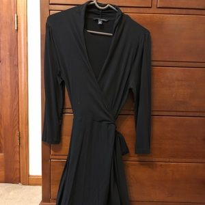 Knee length wrap dress